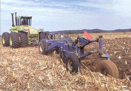 Two bottom land plow moldboards